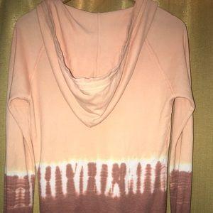 Sweaters - Tie-Dye Deep V Pull-Over Sweatshirt